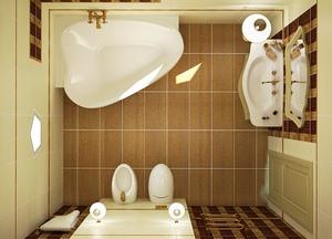 расстановка мебели и сантехники в ванной комнате